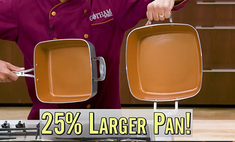 25% larger pan!
